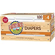 Earth's Best TenderCare Chlorine-Free Disposable Baby Diapers, Size 4 (22-37 lbs.), 100 Count (Value Size)