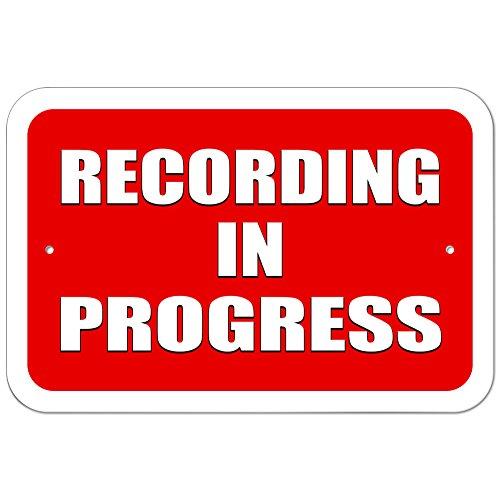 Graphics and More Plastic Sign Recording in Progress - 6' x 9' (15.3cm x 22.9cm)