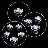 3er Set Solar Glasstein Pflasterstein Bodenleuchte Dekoleuchte mit 4 LED 10 x 10 x...