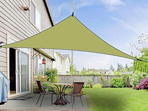 JKCTOPHOME para toldo de jardín al Aire Libre en Patio,Cubiertas de Lluvia de protección Solar al Aire Libre de 3 m-Armygreen_6 * 6 * 6m,Toldo de protección UV