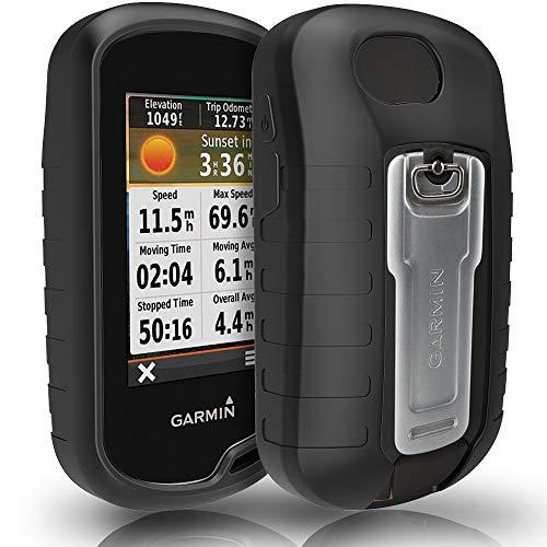 TUSITA Hülle für Garmin Oregon 600 600t 650 650t 700 750 750t - Schutzhülle aus Silikon - Handheld GPS Zubehör (SCHWARZ)