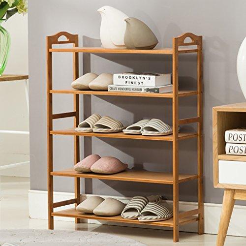 XJB Bamboo Shoe Rack Bench Support de Rangement pour présentoir de Rangement à Chaussures à 5 Niveaux 70 * 26 * 90 cm