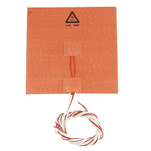 CUCUDAI 150x150mm 110V 180W Waterproof Silicone Heater Bed Pad Electric Heating Mat for 3D Printer Ender-3 CR-10 Parts-
