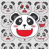 Panda expresión tesoro nacional de dibujos animados linda maleta portátil teléfono móvil guitarra monopatín pegatina impermeable 15 piezas