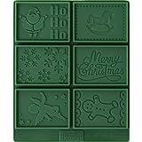 RBV Birkmann 'Petite poesie Navidad Mantequilla Galletas Set, Verde/Plata, 2Piezas