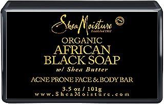 Shea Moisture Organic African Black Bar Soap Acne Prone Face & Body For Unisex, 103.5 gm