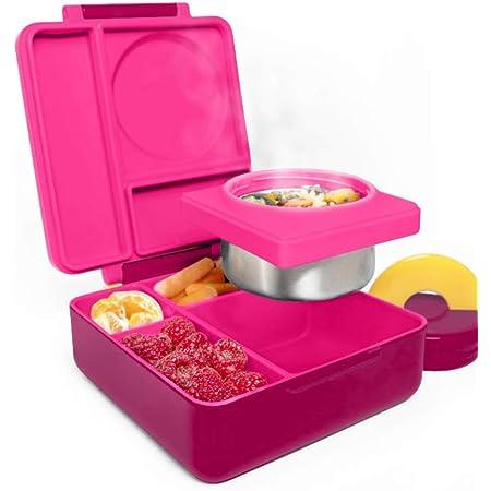 Lunch Box con Manico,Lunch Box con Scomparto,Lunch Box Ermetico,Bento Box,Lunch Box Bambini Bento,Bento Lunch Box Adulti,Lunch Box Bambini Scuola