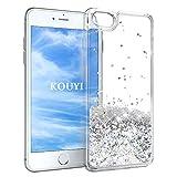 KOUYI Coque iPhone 6S/iPhone 6, Flottant Liquide Étui Protecteur TPU Cover Brillant 3D Créatif Conception Sparkly Cristal Brillante 3D Coques étui pour Apple iPhone 6S / iPhone 6 (Argenté)