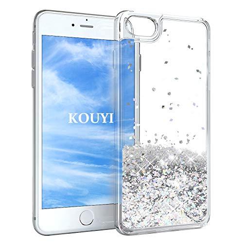 KOUYI Funda iPhone 6S/6, Brillo Liquida Claro 3D Bling Cubierta Flowing Liquid...