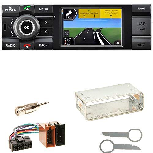Kienzle MCR 1031 NAV Autoradio Digitalradio DAB+ Bluetooth USB AUX 1-DIN Navigation MP3 WMA FLAC Einbauset für Mercedes A C M Klasse