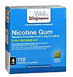 Walgreens Nicotine Polacrilex Gum, 4 MG - Original Flavor - 110 pieces Stop Smoking Aid