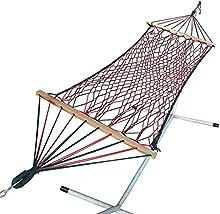 Hangit 3' Feet Wide Crestwood UV Res Rope Hammock Swing | Ideal Cheap Gifts for Men Women Boys Girls Kids
