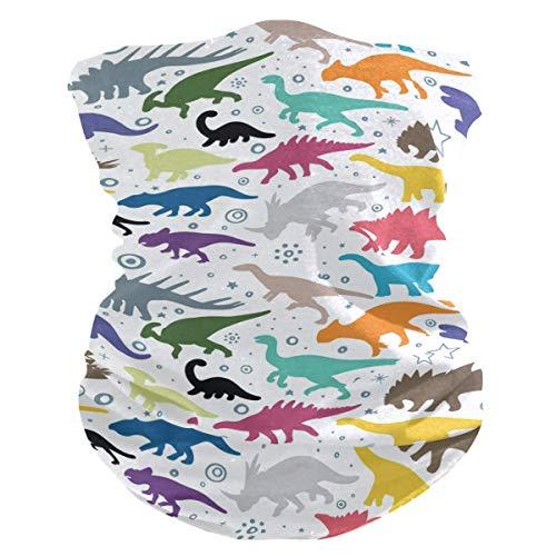 Niet toepasbare hoofdband kleurrijke dinosaurussen dierpatroon gezicht UV zonwering masker hals gamas magische sjaal bandana hoofddeksel bivakmuts voor vrouwen mannen