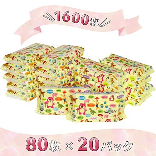 『トイ・ストーリー 純水99% おしりふき 80枚入×20個 (1600枚) 日本製 パラベンフリー』の6枚目の画像