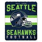 NFL Seattle Seahawks Singular Fleece Throw, 50-inch by 60-inch, Green