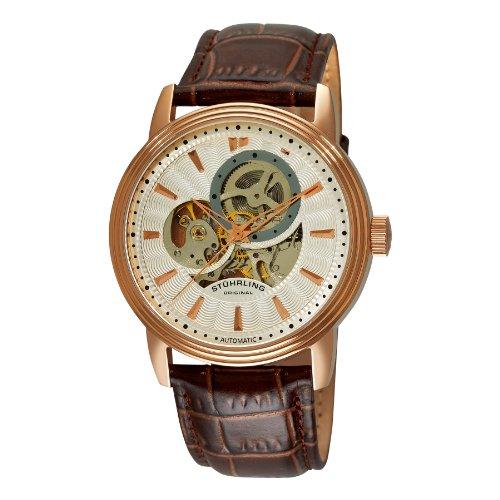 Stuhrling Original 1076.3345K2 Herren-Armbanduhr Analog Automatik Leder