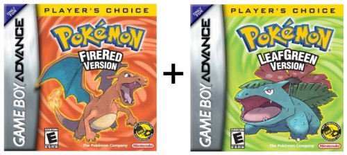 GBA Pokemon Fire Red and GBA Pokemon Leaf G