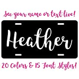 Simply Customized Personalized License Plate Black White Custom Name Text 20 Colors You Design Car Tag Auto