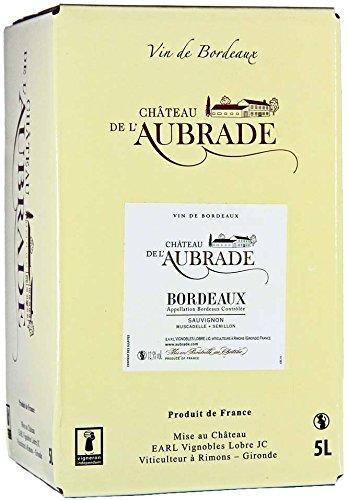 Château de l´Aubrade A.O.C. Bordeaux Blanc Bag-in-Box Weißwein trocken (1 x 5,0l)