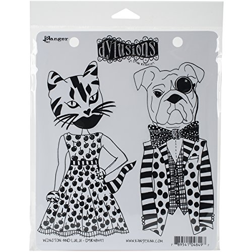 Ranger et Winston Dylusions accrochent Stamp Lulu Rouge