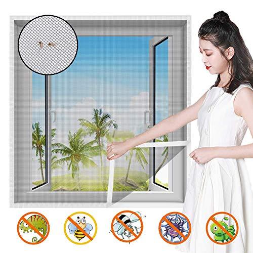 HTDG Vliegengaas voor ramen, zwart, doorzichtig dak, aluminium, zelfklevend, voor ramen, gemaakt van een vliegengaas voor ramen, fijnmazig maaien, zonder boren