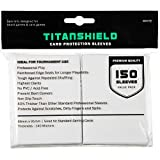 TitanShield (150 Sleeves / White Standard Size Board Game Trading Card Sleeves Deck Protector for Magic The Gathering MTG, Pokemon, Baseball Collection, Dropmix