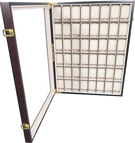Uhrenbox Holz 48 Uhren Für Wand Rosenholz Design Sichtfenster Echtglas Uhrenschatulle Uhrenvitrine