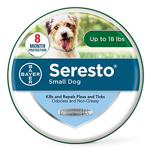 Seresto Flea and Tick Collar for Dogs, 8-Month Flea and Tick Collar for Small Dogs, Up to 18 Pounds