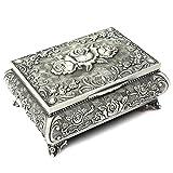 Joyero H&S® antiguo, para anillos, collares y joyas, caja antigua de almacenamiento y exhibición,...