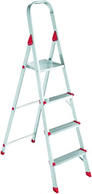 Louisville Ladder L2346-04 200-Pound Duty Rating Euro Aluminum Platform Ladder, 4-Foot