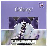 Colony - Set de 9 Velas de té perfumadas (Aroma a Lavanda)