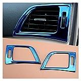Development 1 par Azul Interior Interior Dashboard Side Air Vent Outlet Outlet Decoration Fit para Nissan Sentra 2016 2017 2018 2019