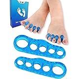 Separador de dedos de gel corrector de juanetes, 1 Pair Separador Dedos Pie para Corrector de juanetes, Separador de Dedos Enderezador Dedos Pie para Alivio de la Dolor en el Pie