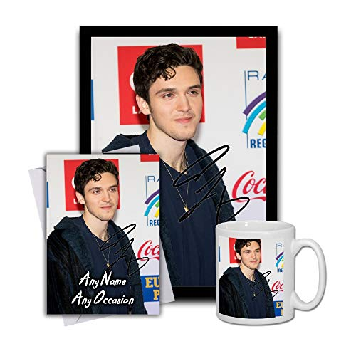 Star Prints UK Lauv 1 Gift Set Bundle 2019 - Large 11cm Mug, A4 Framed Poster and Matching Birthday or Christmas Card (No Personalised Card)