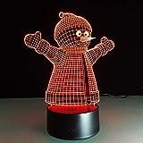 Luces de Navidad Árbol de Santa Botas de muñeco de Nieve Luces de Colores Luces nocturnas Niños Mesa táctil Regalos Decoración para el hogar