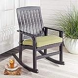 Better Homes & Gardens Delahey Wood Porch Rocking Chair (Dark Brown)