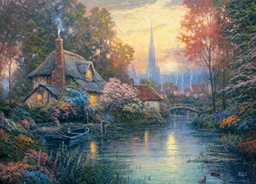 Ceaco Thomas Kinkade -Nanette's Cottage Jigsaw Puzzle, 1000 Pieces
