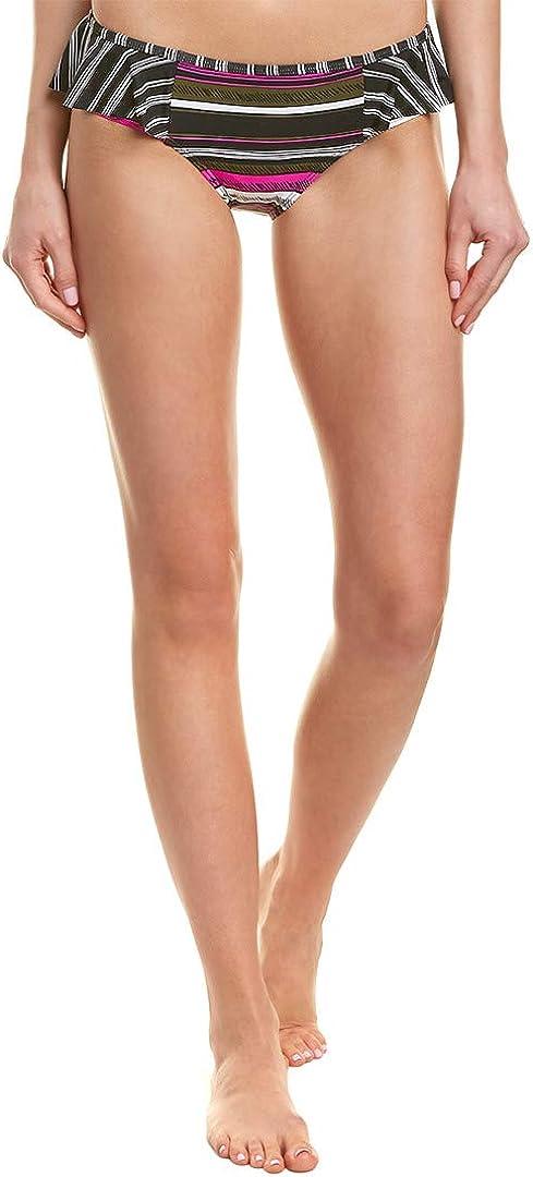 Anne Cole Women's Standard Side Flounce Bikini Swim Bottom