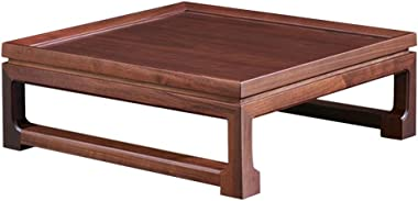 Coffee Table Balcony Bay Window Tea Table Living Room Table Household Tatami Table Study Room Table Gift (Color : Brown, Size