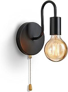 Applique Murale Vintage E27 Douille Standard Appliques Murale Interieur Industrielle RéTro MéTal Lampe Avec Interrupteur P...