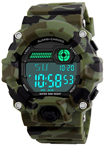 Kids Digital Watches, Boys Sports Military Watch with Alarm/Timer/Shock Resistant, Teenagers...