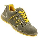 K&G Arbeitsschuhe Urgent 219 S1 GRAU Sicherheitsschuhe Gartenschuhe Herrenschuhe Halbschuhe Schuhe Herren (45 EU)