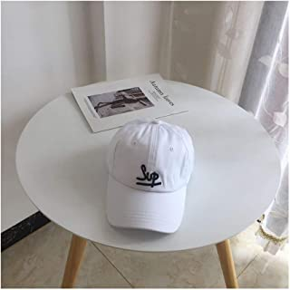 Hats Female Outdoor Wild Sunshade Cap Spring and Summer Cotton Embroidery Letter Baseball Cap Fashion (Color : White)