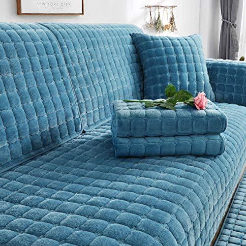 HXTSWGS Funda de sofá de Felpa de Invierno para Sala de Estar, Toalla de sofá, Estilo Europeo, Antideslizante, cálida, Funda de sofá, Fundas de cojín de Esquina para sofá-04_W90xL160cm