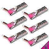 6pcs 450mAh 1S LiPo Batteries 3.8v HV PH2.0 80C LiHV Battery Compatible for 1S Racing Drone Quadcopter EMAX TinyHawk HAPPYMODEL Snapper7