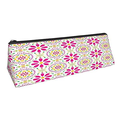 Bolsa de lápiz de triángulo mexicano Seaml estuche de papelería duradero para mujeres bolsa cosmética