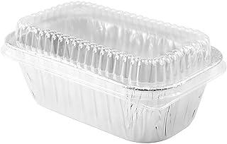 Disposable Aluminum 1 lb. MINI Loaf Pans with Clear Dome Lids- Pack of 20 pans & 20 Lids