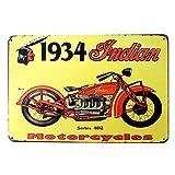 Doitsa 1x Placa metálicos Vintage Moto 1934, Póster de Pared decoración para salón Dormitorio Barbacoa Pub Bar