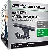 Rameder Attelage rotule démontable pour Nissan Qashqai/Qashqai +2 I + Faisceau 7 Broches (134156-05616-1-FR)