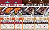 SAVU Smoker Bag for Oven/Grill, Hickory (2) & Mesquite (2), 4 Pack